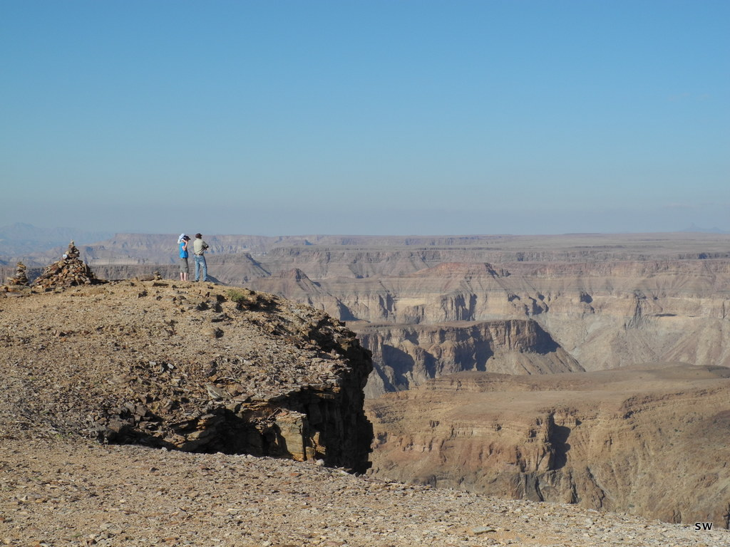 at the Fish River Canyon